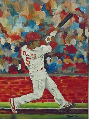 Painting - Pujols At Bat by Made by Marley