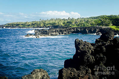 Photograph - Pukaulua Point Waianapanapa North Pacific Ocean Hana Maui Hawaii by Sharon Mau