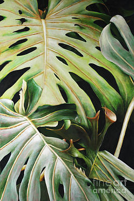 Philodendron Painting - Pulelehua by Sandra Blazel - Printscapes