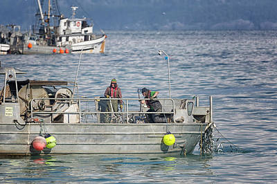 Photograph - Pulling Nets 2 by Randy Hall