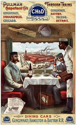 Namaste With Pixels Royalty Free Images - Pullman Compartment Cars and Trains - Vintage Travel Poster Royalty-Free Image by Studio Grafiikka