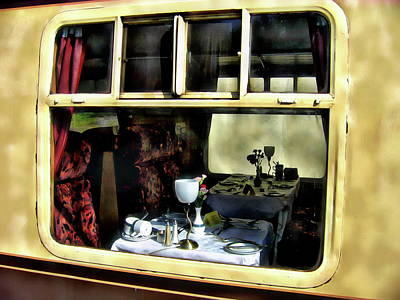 Photograph - Pullman Dining Car by Anthony Dezenzio