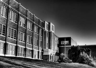 Photograph - Pullman High School In Black And White by David Patterson