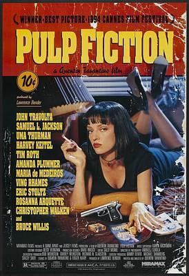Mystery Digital Art - Pulp Fiction 1994 by Fine Artist