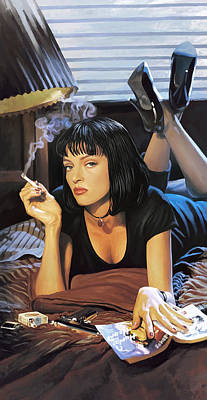Pulp Painting - Pulp Fiction Artwork 2 by Sheraz A