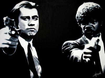 John Travolta Painting - Pulp Fiction by Luis Ludzska