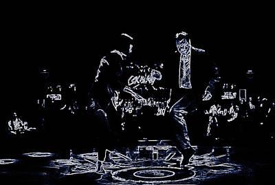 Sex Slaves Digital Art - Pulp Fiction Neon Dance by Brian Reaves