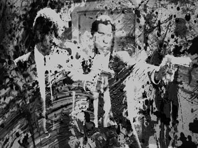 Organized Crime Painting - Pulp Fiction Paint Splatter 3c by Brian Reaves