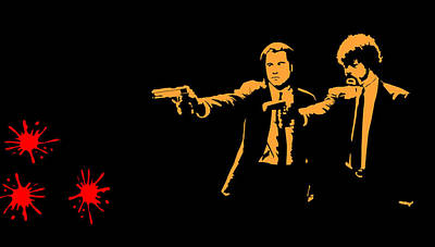 Quentin Tarantino Digital Art - Pulp Fiction Splatter  by Movie Poster Prints