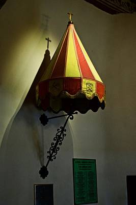 Photograph - Pulpit Canopy At Mission Carmel by Eric Tressler