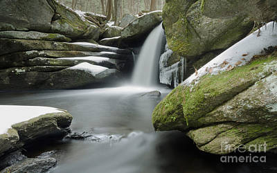 Photograph - Pulpit Falls Winter Long Exposure by Along The Trail