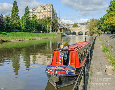 Photograph - Pulteney Bridge And River Avon by Colin Rayner