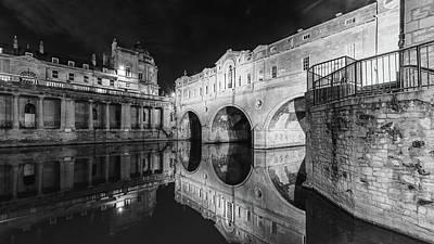 Photograph - Pulteney Bridge In Bath By Night by Jacek Wojnarowski