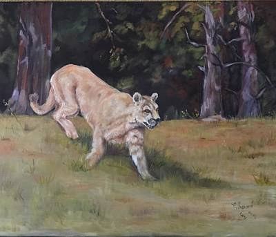 Painting - Puma by Charme Curtin