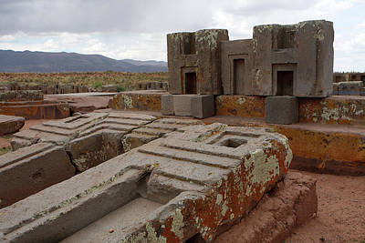 Photograph - Puma Punku Archeology Site, Bolivia by Aidan Moran