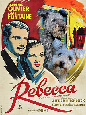 Painting - Pumi -  Rebecca Movie Poster by Sandra Sij