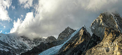 Photograph - Pumori And Changri Peaks by Mike Reid