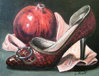 Painting - Pump And Pomegranate by Laura Aceto