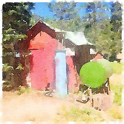 Digital Art - Pump At Beasore Meadows by Shannon Grissom