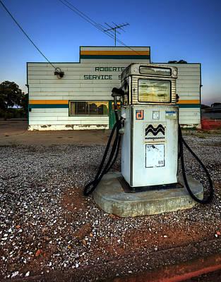 Photograph - Pump At Sunset by Wayne Sherriff