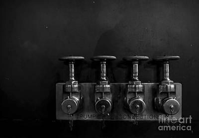 Pump Connection - Bw Art Print by James Aiken