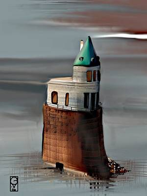 Digital Art - Pump Station On The Mississippi  by Gerry Morgan