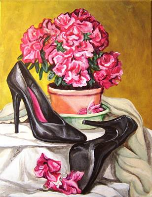 Art Print featuring the painting Pumped Azalea by Laura Aceto