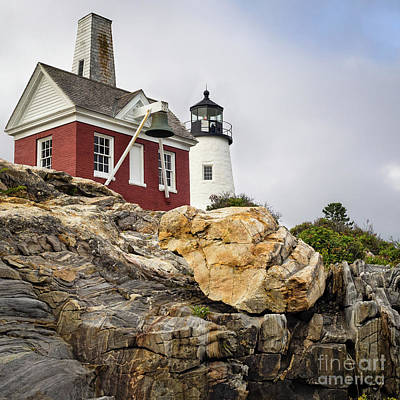 Pumphouse And Tower, Pemaquid Light, Bristol, Maine  -18958 Art Print