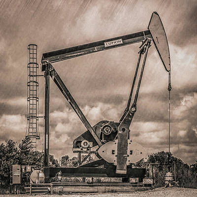 Photograph - Pumping Oil by Gregory Daley  PPSA