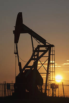 Pumpjack Silhouette Print by Michael Interisano