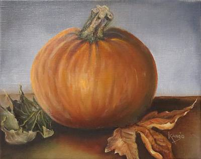 Painting - Pumpkin 3.14 by Wendy Winbeckler Kanojo