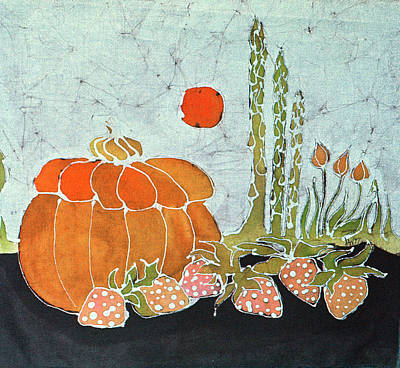 Pumpkin And Asparagus Art Print