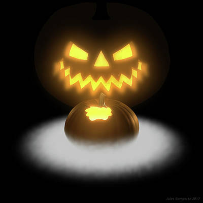 Digital Art - Pumpkin And Co II by Jules Gompertz