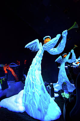 Haunted Mansion Photograph - Pumpkin Angels by Mark Andrew Thomas