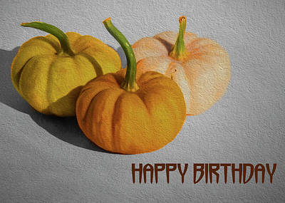 Photograph - Pumpkin Birthday by Cathy Kovarik