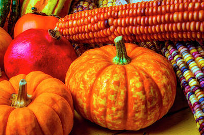 Photograph - Pumpkin Corn Still Life by Garry Gay