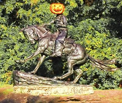 Photograph - Pumpkin Cowboy by Alice Gipson