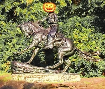 Photograph - Pumpkin Cowboy by Alice Gipson