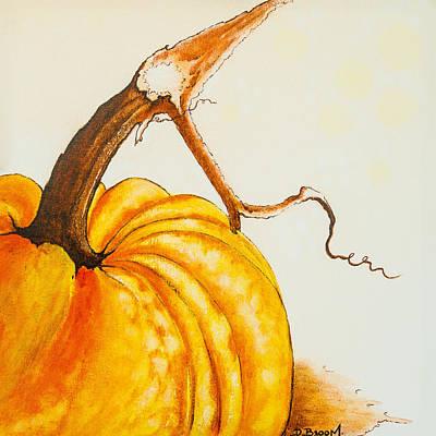 Tendrils Painting - Pumpkin by Dawn Broom