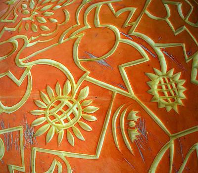 Damariscotta Photograph - Pumpkin Detail by Glory Ann Penington