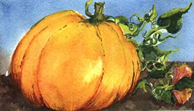 Wall Art - Painting - Pumpkin by Elle Smith Fagan