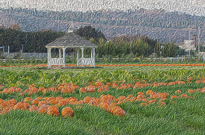 Painting - Pumpkin Field by Jessica Nguyen