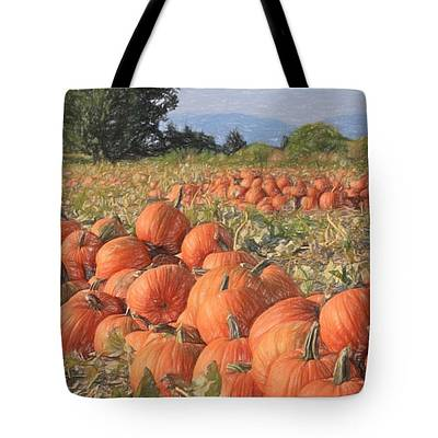 Photograph - Pumpkin Harvest - Tote by Donna Kennedy