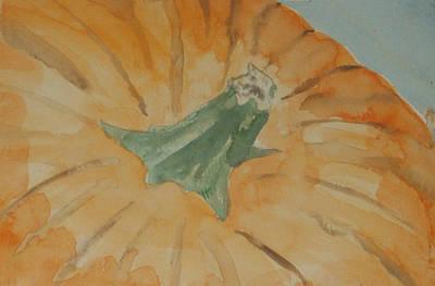 Wall Art - Painting - Pumpkin by Helen Krummenacker