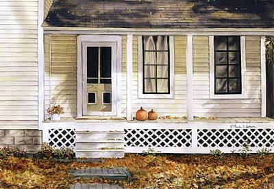 Painting - Pumpkin House by Paula Nathan