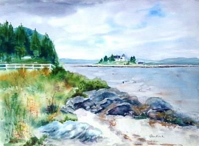 Painting - Pumpkin Island Light by Diane Kirk