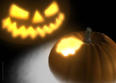Cgi Digital Art - Pumpkin by Jules Gompertz