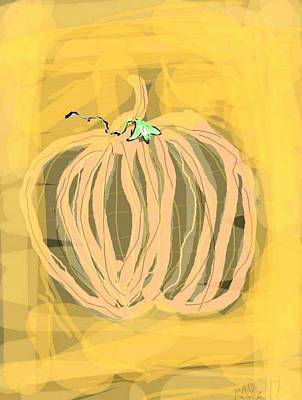 Digital Art - Pumpkin by Kathy Barney