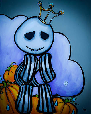 Tim Painting - Pumpkin King's Lament by Marisela Mungia