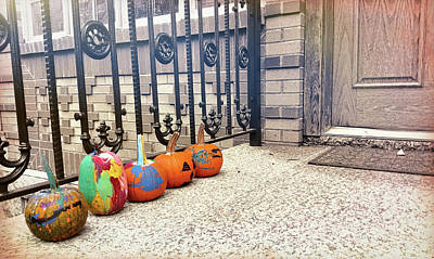 Photograph - Pumpkin Line-up by JAMART Photography